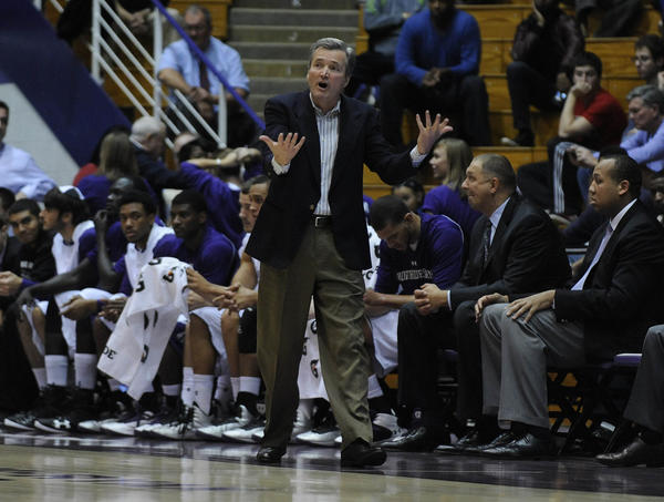 Northwestern coach Bill Carmody. (US Presswire Photo)
