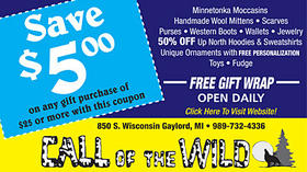 Call of the Wild - Save $5 on any gift purchase of $25 or more with this coupon
