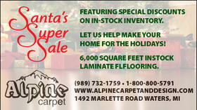 Alpine Carpet - Santa's Super Sale - Special Discounts on In-Stock Inventory