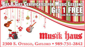 Musik Haus - Buy 6 Gift Certificates For Music Lessons, Get 1 Free