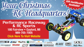Performance Raceway & RC Sports - Your Christmas RC Headquarters - Gift Certificates Available