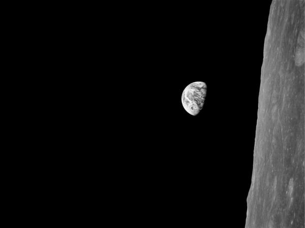 """Earth as seen from the moon in """"Earthrise."""""""