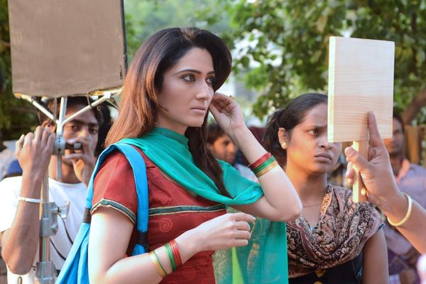 "Gauri Singh on location for the Punjabi film ""Bolo Tara Rara"" in Amritsar, India."