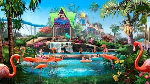 Concept art of SeaWorld San Diego's Aquatica water park planned