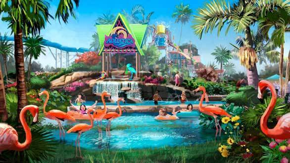 Concept art of SeaWorld San Diego's Aquatica water park planned for Chula Vista