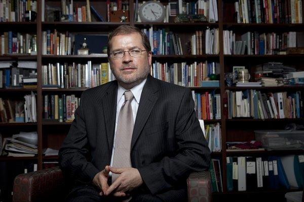 Grover Norquist, Washington's most powerful anti-tax crusader, is seen in his office.