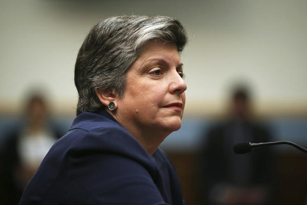 Homeland Security chief Janet Napolitano is seen testifying during a hearing before the House Judiciary Committee in Washington, D.C.