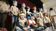 Kindergartners celebrated Thanksgiving at Adams Elementary School on Tuesday.