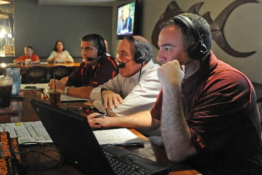 Jim Weaver (center) says Virginia Tech committed to ACC