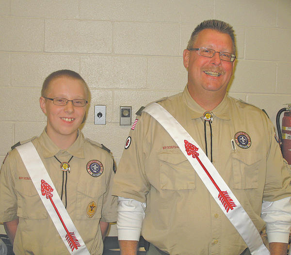 Boy Scout Troop 103 Senior Patrol Leader Zachary Klein, left, and Assistant Scoutmaster Daniel Klein were inducted into The Order of the Arrow. The Kleins were elected to be part of the order by the troop, and completed their Ordeal Weekend at the end of October. Boy Scout Troop 103 is chartered by the Rotary Club of Long Meadows.