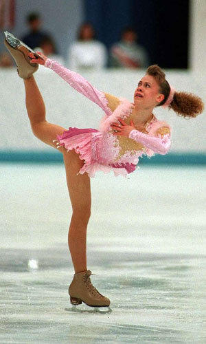 Oksana Baiul competes in the 1994 Olympics.