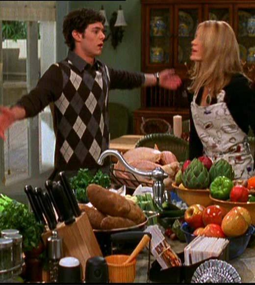 25 classic Thanksgiving TV episodes and specials: Sure, the main plot involves Ryan and Marissa visiting his brother in prison, but the subplots revolving around Seth juggling Summer and Anna, plus Kirsten guzzling wine to sooth the pain of dealing with her dad, make the episode worthwhile. Best line? Kirsten slurring I always knew you were a late bloomer, sweetie, to Seth when his girlfriends catch him in the act.