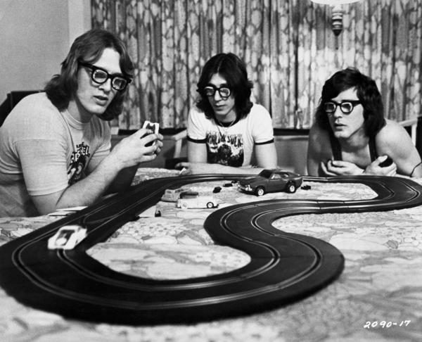"The Hanson brothers, from the 1977 movie ""Slap Shot."""