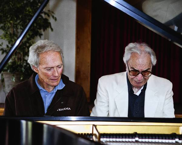 "Dave Brubeck and Clint in the TCM documentary 'In His Own Sweet Way,"" celebrating 90 years of Brubeck's life"