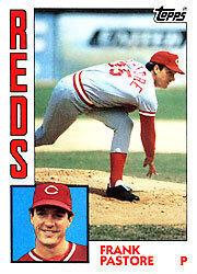 A Frank Pastore baseball card