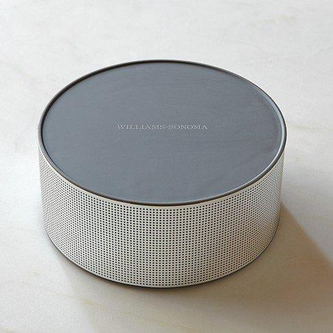 Williams-Sonoma Smart Tools Bluetooth Speaker connects to your iPad or tablet wirelessly, the better to hear instructional cooking videos or apps in the kitchen.