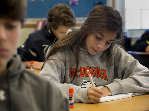 "A coeducational private school for kindergarten through grade 12, McDonogh -- which snagged the No. 1 spot in the mid-size category for Baltimore's Top Workplaces-- is located on nearly 800 lush acres near Owings Mills. It was founded in 1873 as a farm school for poor boys. Its founder, John McDonogh, focused on character, and the school's modern-day mission statement follows suit: ""Embracing diversity of background, culture, and thought, the school builds upon its founder's original mission to provide life-altering opportunities and to develop in students the will `to do the greatest amount of good.' """