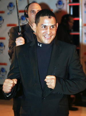 "Hector ""Macho"" Camacho arrives for an event in Miami Beach in 2006."