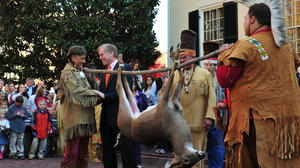 McDonnell accepts tax tribute of deer and Native American works