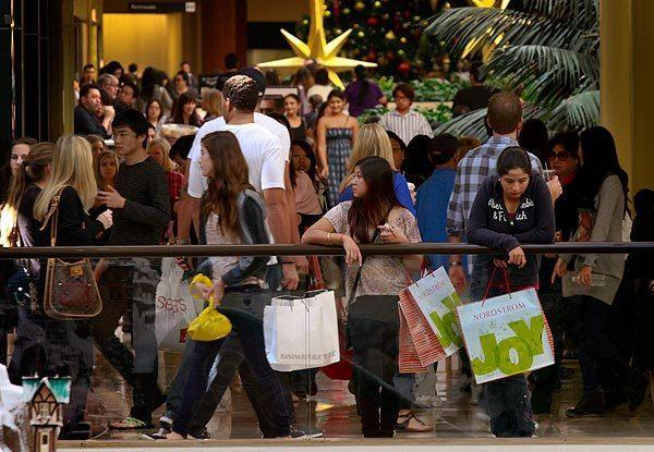 Shoppers flock to South Coast Plaza in Costa Mesa on a previous Black Friday.