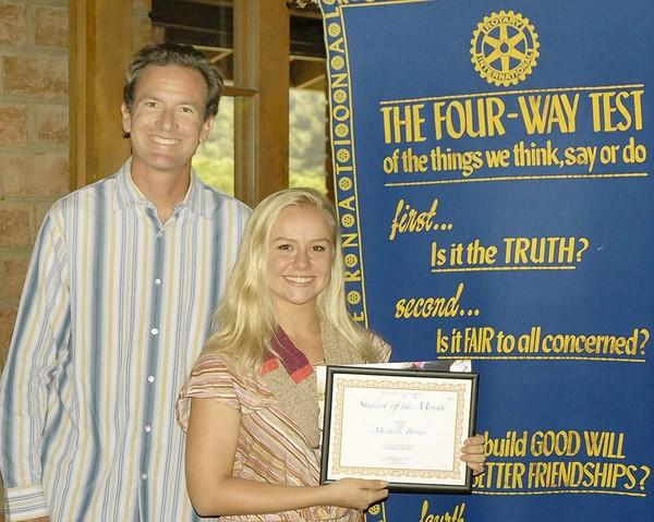 Laguna Beach High School senior Michelle Brown is the Rotary Club's Student of the Month for October.