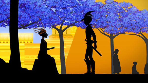 "A scene from Michel Ocelot's new animated film ""Les Contes de la nuit"" or ""Tales of the Night."""