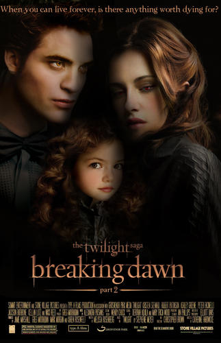 4 Stars PG-13; Kristen Stewert, Robert Pattinson, Taylor Lautner, Christopher Heyerdahl, Michael Sheen, and many more. The Twilight Saga finishes its five part series with Bella as a vampire and her child Renesmee proving to be very special, so the Volturi come to sentence her to death leading to a fight. After so many ups and downs and the movies only getting better, I expect this one to be the best of them all.