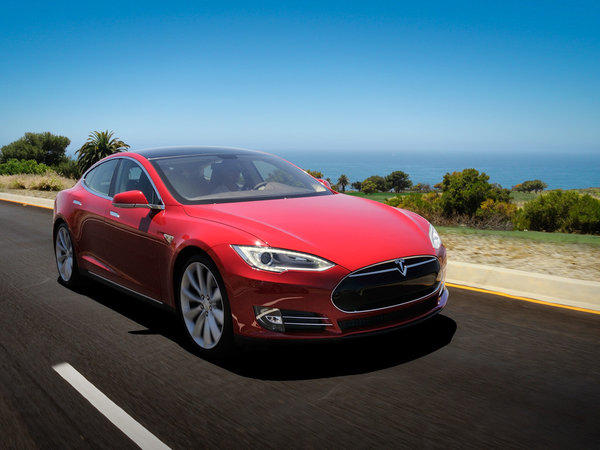 A judge has denied a bid by Massachusetts auto dealers to block Tesla -- whose products include the Tesla Model S, shown here -- from operating a mall display store near Boston.