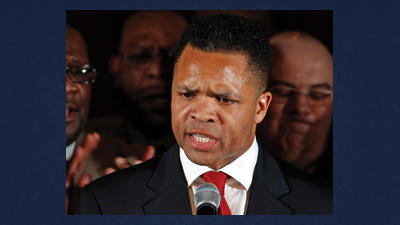 In this March 20, 2012 file photo, Rep. Jesse Jackson Jr., D-Ill. speaks in Chicago. A spokesman for House Speaker John Boehner says he has received letter of resignation from Rep. Jesse Jackson Jr. Wednesday.