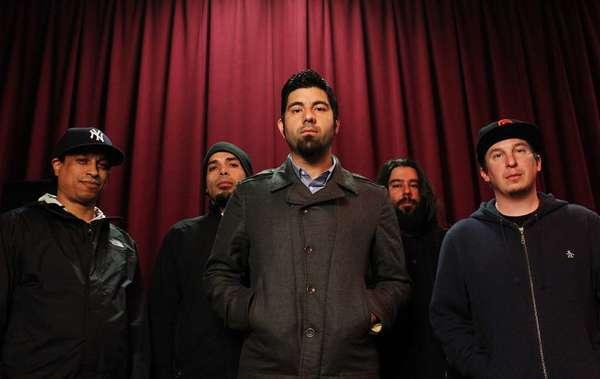 Sergio Vega, left, Frank Delgado, Chino Moreno, Stephen Carpenter and Abe Cunningham of the Deftones in 2010.