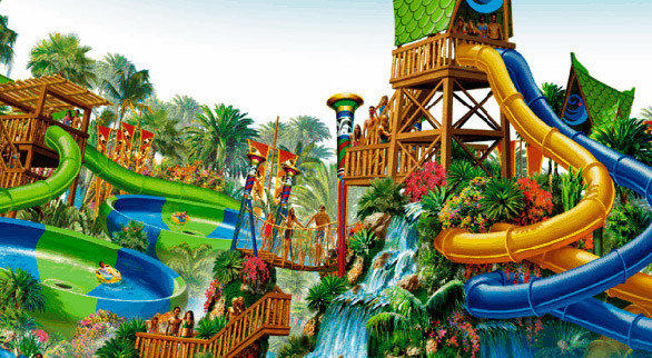 SeaWorld San Diego's new water park is expected to employ a South Seas thematic overlay similar to the motif evoked at Aquatica Orlando.