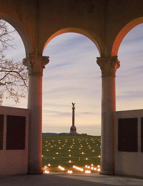 More than 23,000 luminaries will light Antietam National Battlefield at 6 p.m. Saturday, Dec. 1. The 24th annual Antietam Memorial Illumination recognizes those who were killed, wounded or missing during the Sept. 17, 1862, Civil War battle.