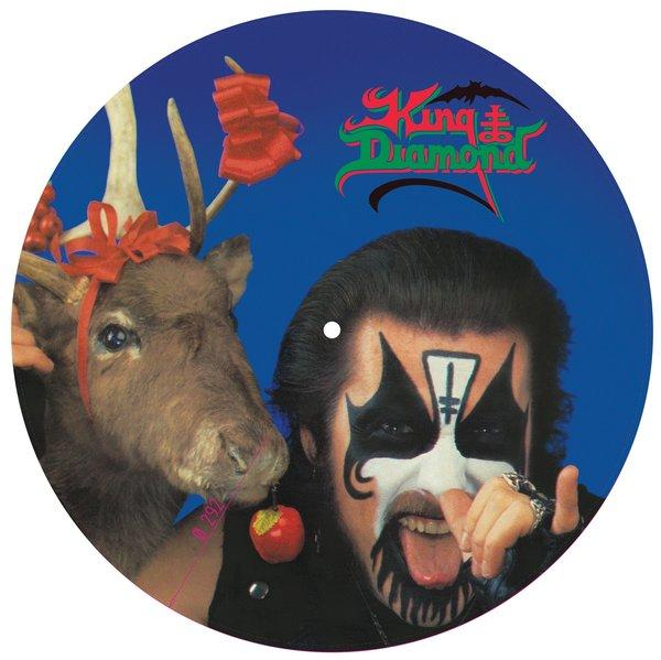"""Picture disc of King Diamond's """"No Presents for Christmas."""""""