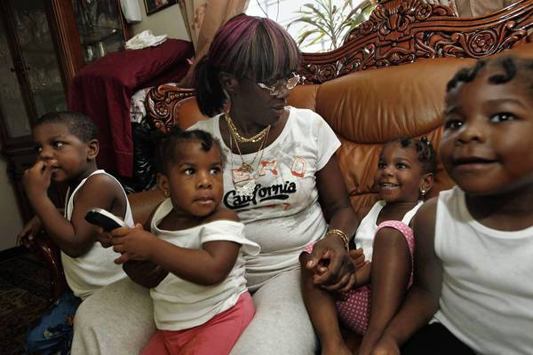 Denise Peace is raising five grandchildren, ages 2 to 17. Their mother, her daughter, was killed by gun violence last year in Brooklyn.