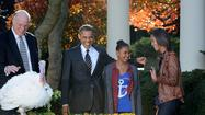 Thanksgiving: Obama pardons turkeys, stars think of Sandy victims