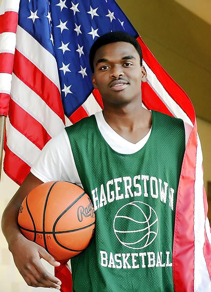 Hagerstown Community College basketball player Jean Eddy Clerius is excited about the opportunities U.S. citizenship will bring for him.