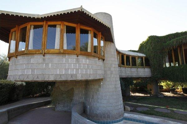 This Phoenix home was designed by noted architect Frank Lloyd Wright.