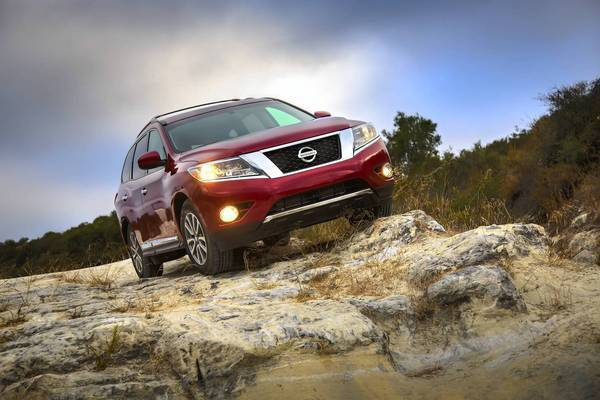Much bigger than its predecessor, the new Pathfinder comfortably seats seven adults in three rows of seats. To do this, Nissan stretched the Pathfinder's length by 5 inches and its width by more than 4 inches.