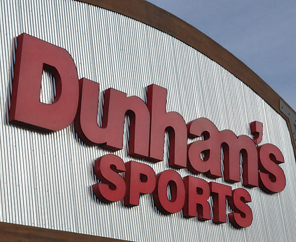Dunham's Sports opens at midnight.