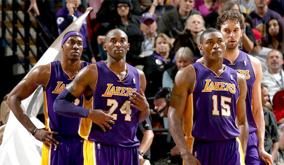 Dwight Howard, Kobe Bryant, Metta World Peace, Pau Gasol