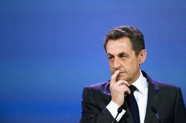Then-French President Nicolas Sarkozy at a symposium in Paris in March.
