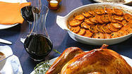 It is Thanksgiving morning. As you read this, the bird, a fine 16-pounder, is coming to room temperature on the counter. The green beans have been topped and tailed, and my fingertips smart from peeling smoking-hot chestnuts for the stuffing. I've reminded my mother-in-law that she needn't bring the cranberry sauce — my cranberries are chilling in the refrigerator next to the bottles of Alsatian Riesling.