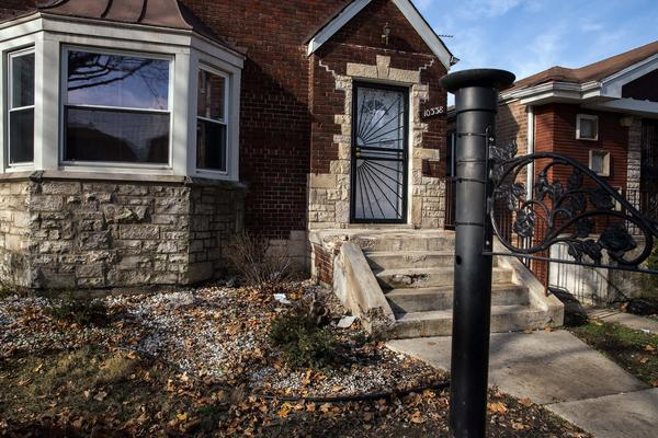 The porch on South Forest Avenue where William Terry was stabbed.