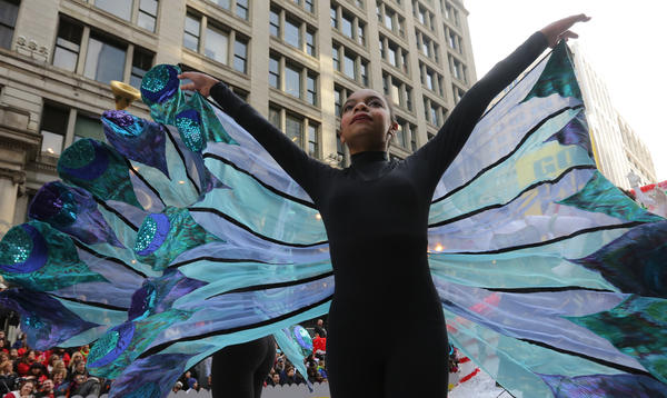 Mild weather greeted the annual Thanksgiving Parade.