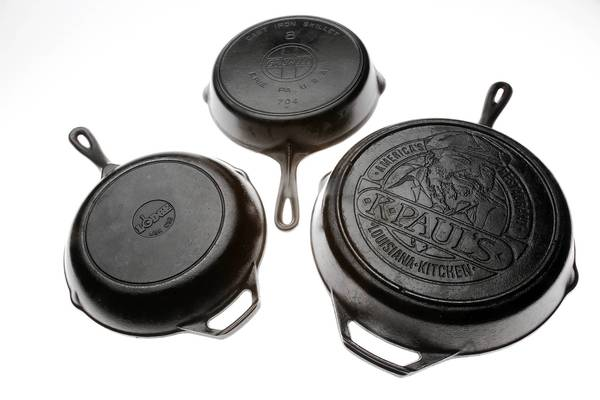 Cast-iron cookware is regaining popularity. There's a vigorous collectible market.