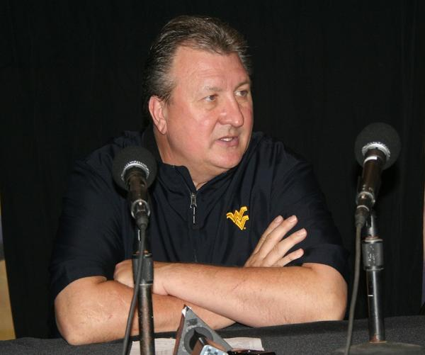 West Virginia basketball coach Bob Huggins talks about his team's 87-44 victory over Marist in the opening game of the Old Spice Classic at ESPN's Wide World of Sports in Lake Buena Vista.