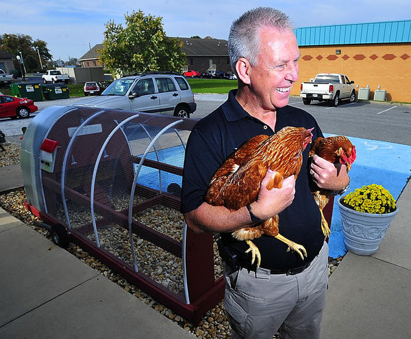 Hagerstown veterinarian Dan Franklin returned recently from the Dominican Republic where he is working on a project to help residents build chicken coops. They intend to raise egg-laying chickens there.