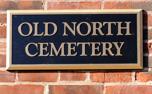The Old North Cemetery in the northend of Hartford is located on North Main Street across from Sands Elementary School.