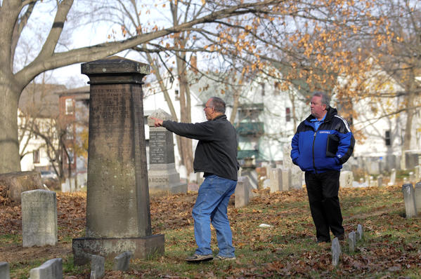 In the last few years major restoration projects have been initiated at the historic Old North Cemetery in Hartford. Bill Hosley recently helped organize Friends of Old North Cemetery. The group is hosting A Walk Among Angels, a tour of the cemetery this Saturday at 10am and again at 2pm.