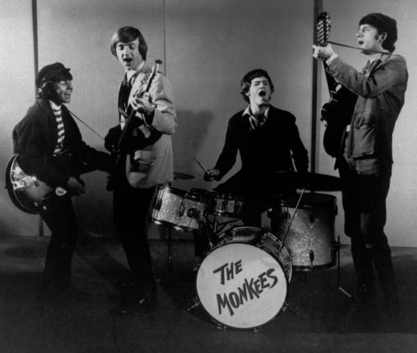 "A 1966 file photo of The Monkees. Former drummer Mickey Dolenz, sitting, joins co-stars Michelle T. Williams, Will Chase and Lisa Brescia in the Broadway version of ""Aida,"" the Tony Award-winning musical with music by Elton John and lyrics by Tim Rice."
